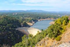 Barrage de Cabril Image libre de droits