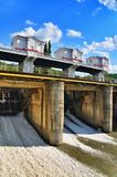 Barrage de centrale hydroélectrique de Maikop HPS Images libres de droits