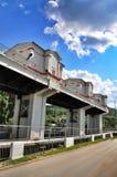 Barrage de centrale hydroélectrique de Maikop HPS Image libre de droits