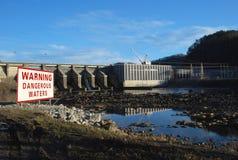 Barrage de Chilhowee sur petit Tennessee River Images libres de droits