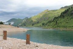 Barrage de fedaia en Italie image stock