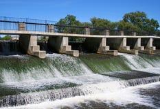 Barrage de fleuve Images libres de droits