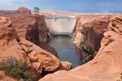 Barrage de gorge de gorge près de page, Arizona. Photographie stock libre de droits