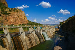 Barrage de Hartbeespoort Photos stock