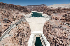 Barrage de Hoover et fleuve Colorado près de Las Vegas, Nevada Photos stock