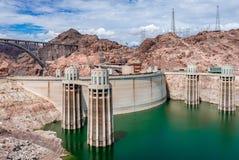 Barrage de Hoover et hydromel de lac photos stock