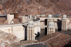 Barrage de Hoover - le Lake Mead Photo stock