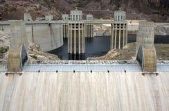 Barrage de Hoover près de ville de Boulder Photo stock