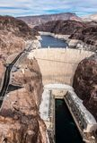 Barrage de Hoover un chef d'oeuvre architectural à la frontière entre le Nevada et l'Arizona image stock