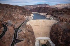 Barrage de Hoover un chef d'oeuvre architectural à la frontière entre le Nevada et l'Arizona images stock