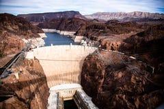 Barrage de Hoover un chef d'oeuvre architectural à la frontière entre le Nevada et l'Arizona photographie stock libre de droits