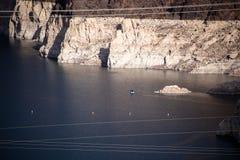 Barrage de Hoover un chef d'oeuvre architectural à la frontière entre le Nevada et l'Arizona photos stock