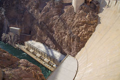 Barrage de Hoover - vue d'en haut Photo libre de droits