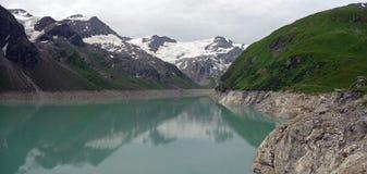 Barrage de Kaprun, lac Mooserboden photos libres de droits