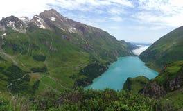 Barrage de Kaprun, lac Mooserboden photographie stock libre de droits