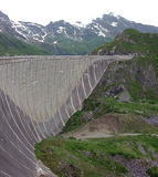 Barrage de Kaprun, lac Mooserboden photographie stock