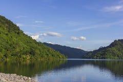 Barrage de Khun Dan Prakan Chon Images libres de droits