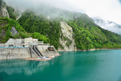 Barrage de Kurobe Photo libre de droits
