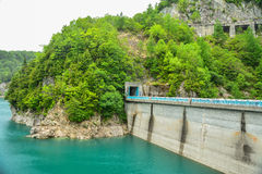 Barrage de Kurobe Photo stock