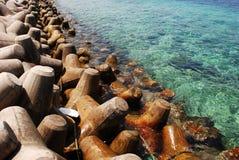 Barrage de l'île mâle Photos libres de droits