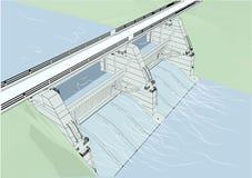 Barrage de l'eau illustration libre de droits
