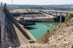 Barrage de Mansfield en Austin Texas Photographie stock