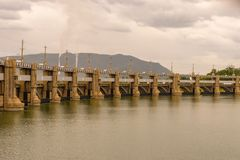 Barrage de Mettur dans Tamilnadu Inde photo stock