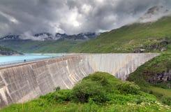 Barrage de Moiry de lac photographie stock libre de droits