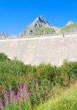 Barrage de Morasco, vallée de formazza Images stock