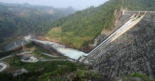 Barrage de Murum, Bakun Bintulu Bornéo Images libres de droits