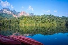 Barrage de paradis de Guilin Thaïlande, Surat Thani, Thaïlande Image libre de droits