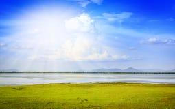 Barrage de Pasak au central de lopburi de la Thaïlande Photo stock