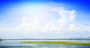 Barrage de Pasak au central de lopburi de la Thaïlande Photo libre de droits