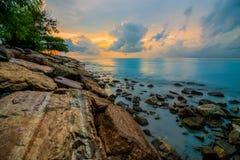 Barrage de plage Images libres de droits