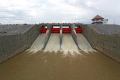 Barrage de porte d'eau Photos libres de droits