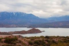 Barrage de Potrerillos près de Mendoza photo stock