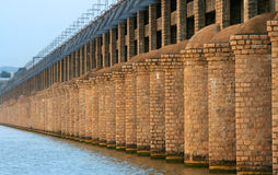 Barrage de Prakasam Images stock