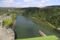 Barrage de rivière photo stock