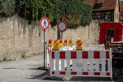 Barrage de route/bloc spécial de barrières images libres de droits