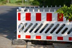 Barrage de route/bloc spécial de barrières images stock