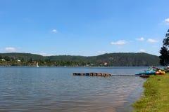 Barrage de Slapy sur la rivière de Vltava Images libres de droits