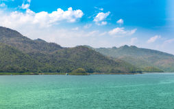Barrage de Srinagarind, Thaïlande Photographie stock libre de droits