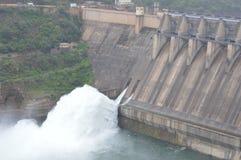Barrage de Srisailam, Andhra Pradesh, Inde photo libre de droits
