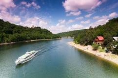 Barrage de Vranov sur la rivière Thaya Image libre de droits