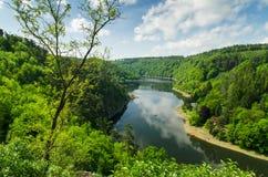 Barrage de Vranov sur la rivière Thaya Images stock
