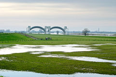 Barrage of Driel (the Netherlands). This is a barrage in the river Rhine near a village called Driel (the Netherlands). It's supposed to shut when the water is Stock Photos