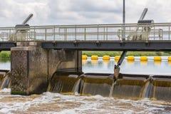Barrage en rivière néerlandaise Vecht Image stock
