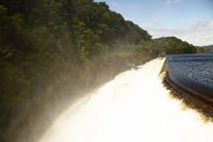 Barrage et arc-en-ciel de Croton Photos libres de droits