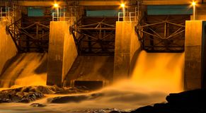Barrage hydraulique Image stock