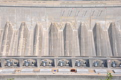Barrage hydraulique aux chutes du Niagara photographie stock